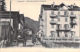 74 - ARGENTIERE ( CHAMONIX MONT BLANC ) HOTEL Du Glacier Et Terminus ( Animation Attelage ) CPA - Haute Savoie - Chamonix-Mont-Blanc
