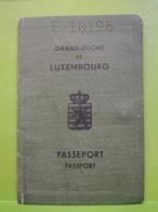 Passeport Luxembourg 1953. - Documentos Históricos