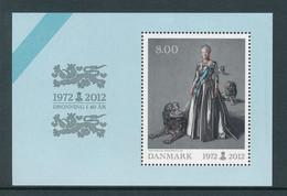 Denmark Souvenir Sheet In Mint Condition (Queen Of Denmark For 40 Years) 2012 - Ongebruikt
