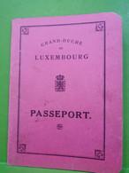 Passeport Luxembourg 1921 - Documentos Históricos