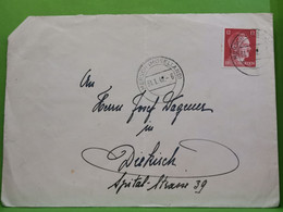 Lettre, Oblitéré Mersch Moselland 1942 Envoyé à Diekirch - 1940-1944 Occupation Allemande