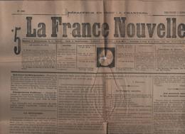 LA FRANCE NOUVELLE 01 10 1876 - SERBIE TURQUIE - CONGRES OUVRIER - ATROCITES RUSSES Vs POLONAIS - ROME - PONTUSVAL - 1850 - 1899