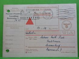 Nachnahme Oblitéré Luxembourg 1944 - 1940-1944 Duitse Bezetting
