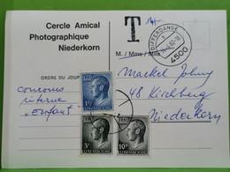 Entier Postaux, Cercle Amical Photographique NIEDERKORN,, Oblitéré 1982 Taxe - Postage Due
