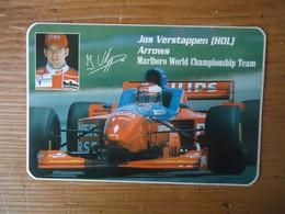 STICKER / AUTOCOLLANT JOS VERSTAPPEN - MARLBORO WORLD CHAMPIONSHIP TEAM - ARROWS Formula 1 - Car Racing - F1