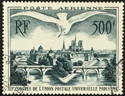 YT 20 UPU Les Ponts De Paris (°) Oblitéré Poste Aérienne 1947 (côte 60 Euros) France – Kr3lot - 1927-1959 Used