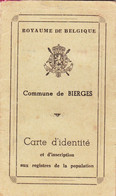Commune De Bierges-lez-Wavre  Carte D'identité - Collezioni