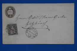 T14 SUISSE BELLE LETTRE RARE 1882 WOHLHAUSEN A HIZKIRCH + AFFRANCHISSEMENT PLAISANT - Covers & Documents