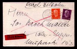 DR - Eil-Brief  SÜRTH (RHEIN) - Köln-Nippes - 4.3.33 - Mi.418,466 - Storia Postale