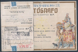 Telegrama BF De Natal. Christmas Stationery Telegram Returned To Sender. Happy Holidays. Magi. Crow. Horses. Camels. - Covers & Documents
