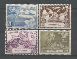 Dominica 1949 U.P.U. 75th Anniv. Y.T. 111/114 ** - Dominica (...-1978)