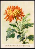 F2139 - Funk Glückwunschkarte Künstlerkarte - Blumen - Reichenbach - Geburtstag