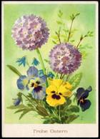 F2143 - Funk Glückwunschkarte Künstlerkarte - Blumen - Reichenbach - Geburtstag
