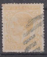 1877 Edifil 189 Impuesto De Guerra Usados - War Tax