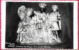 C.P Marche-les-Dames = L' Abbaye  :  Adoration  Des Mages.   Bois  Sculpté  XlVè S. - Namur