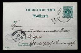 Württemberg 1902, Postkarte DP1 DIETENHEIM - Wuerttemberg