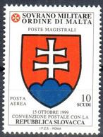 C210) SMOM 2000 - POSTA AEREA CONVENZIONE CON LA SLOVACCHIA - NUOVI - Malte (Ordre De)