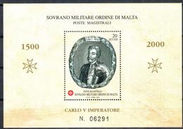 C212) SMOM 2000 - CARLO V FOGLIETTO - NUOVI - Malte (Ordre De)