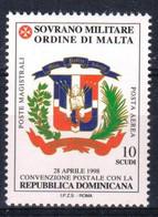 C217) SMOM 1999 - POSTA AEREA CONVENZIONE CON LA REP. DOMINICANA - NUOVI - Malte (Ordre De)