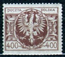 Poland 1923 Fi 140 Eagle On A Large Baroque Shield - MNH - Ongebruikt