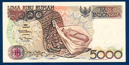 INDONESIA - INDONÉSIE - INDONESIEN 5000 RUPIAH P-130a Sasando Musical Instrument, Tapestry - Kelimutu Lake 1992 UNC - Indonesien