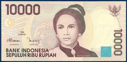 INDONESIA - INDONÉSIE - INDONESIEN 10000 RUPIAH P-137a Tjut Njak Dhien - Segara Anak Volcanic Lake 1998 UNC - Indonesien