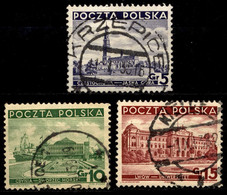 Poland 1937 FI 294-296 Sights In Poland - Gebruikt
