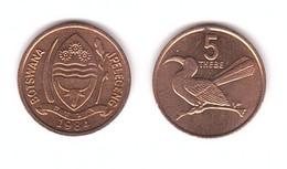 Botswana - 5 Thebe 1984 AUNC / XF+ Lemberg-Zp - Botswana