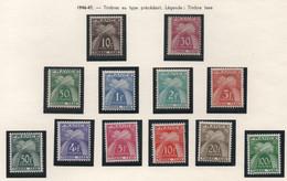 Série Complète Des 12 Timbres-taxes De La Série Gerbes Entrelacées 1946-1950 - Notés Timbre Taxe - 1859-1955.. Ungebraucht