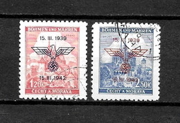 LOTE 2149 A  /// BOHEMIA Y MORAVIA  //  YVERT Nº: 76A/76B  LUXE     ¡¡¡ OFERTA - LIQUIDATION - JE LIQUIDE !!! - Used Stamps