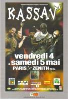 """Carte Postale édition """"Carte à Pub"""" - Kassav' - Paris Zénith (chanteurs, Musiciens) - Publicité"""