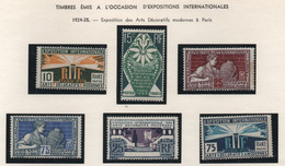 Série Complète Des 6 Timbres Neufs Sur L'exposition Internationale Des Arts Décoratifs Et Modernes à Paris 1925 - Andere Internationale Ausstellungen