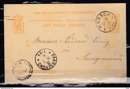 Postkaart Van Mersch Naar Saargemond - ...-1852 Prefilatelia