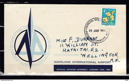 Brief Van Official Opennig Auckland Airport Naar Wellington - Covers & Documents