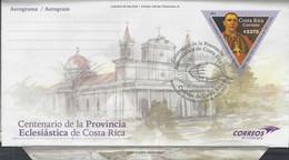 Costa Rica Centenario De La Provincia Eclesiástica, Prepaid Aerogramme FDC 2021 - Costa Rica