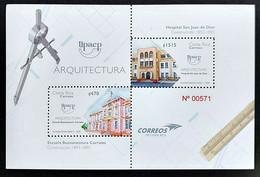Costa Rica Stamps UPAEP Arquitectura 2020 MNH Minisheet - Costa Rica