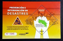 Costa Rica Stamps Prevencion E Intervencion En Desastres MNH Minisheet 2020 - Costa Rica