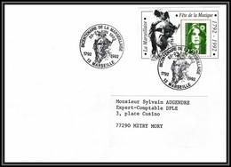 73314 Porte Timbre Marseille 1992 Fete De La Musique Bicentenaire De La Marseillaise 1989 Marianne Du Bicentenaire - 1989-96 Maríanne Du Bicentenaire