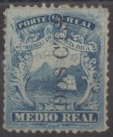 Costa Rica First Issue Fantasy Over Scott 1a Mena Catalog Ross 14 - Very Hard To Find - - Costa Rica
