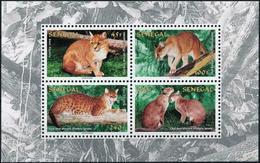 SENEGAL 1997 WILD CATS AFRICAN GOLDEN CATS - Felini