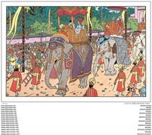 Cpm Cpsm Publicité. TINTIN. Les Cigares Du Pharaon Avec Eléphants - Advertising