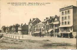 AB. 85 LES SABLES D'OLONNE. Hôtel Du Parc Sur Le Remblai 1930 Timbre Taxe - Sables D'Olonne