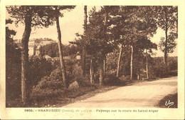 8670 CPA Grandrieu ( Gandrieux ) - Paysage Sur La Route De Laval-Atger - Gandrieux Saint Amans