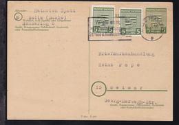 Provinz Sachsen-Anhalt 5 Pfg. Mit Zusatzfrankatur Ab Halle (Saale) 17.3.46  - Zona Soviética