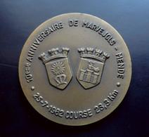 Médaille Sport 10ème Course Marvejols-Mende - Bronze - Attribuée à  D. CHAUVELIER EACC Le Mans 1981 - Athletics