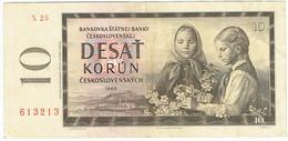 Tchécoslovaquie - Billet De 10 Korun - 1960 - P88b - Czechoslovakia