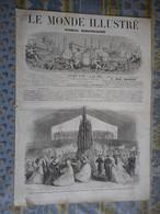 LE MONDE ILLUSTRE 13/08/1868 VENISE EMPEREUR PLOMBIERES SAINTES BERNARD PALISSY BELGIQUE BRUXELLES AQUEDUC VANNE PARIS - 1850 - 1899