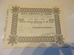 COMMERCIALE DU DAHOMEY - Ohne Zuordnung