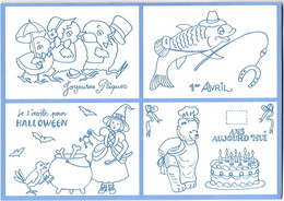 Cartes Modernes - Enfants - Mini-cartes - Mini Carte - Joyeux Noël Bonne Année Anniversaire Halloween Pâques 1er Avril - Gift Cards