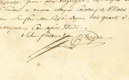 Armee Du Nord Mars Mai 1794 General PICHEGRU (1761-1804) Autographe COURTRAI Kortrijk Belgique Tourcoing - Historische Documenten